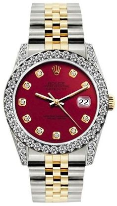 Rolex Datejust 18K Yellow Gold / Stainless Steel Diamond 26mm Womens Watch