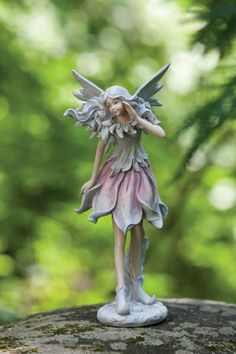 Fairy Sitting wWolf Eagle Price 13999 Fairy Statues Pinterest