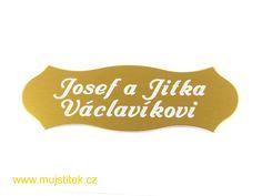 Jmenovka na vchodové dveře od bytu. www.mujstitek.cz