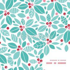 Vetor Natal azevinho bagas moldura canto de fundo — Stock Illustration #56075111