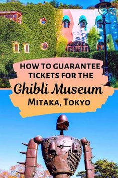 The Studio Ghibli Museum in Mitaka, Tokyo, Japan, is an anime lover's dream. But buying tickets to Hayao Miyazaki's wonderful museum is harder than you might think. Read our guide to buying Studio Ghibli tickets and make sure you get to meet Totoro, the Tokyo Japan Travel, Japan Travel Guide, Go To Japan, Visit Japan, Asia Travel, Japan Trip, Solo Travel, Tokyo Tourism, Tokyo Trip