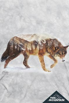 Snow #Wolf T-Shirt. Art by Andreas Lie - Find more at The Mountain plus FREE shipping on orders over $50