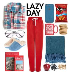 """""""A Lazy Day"""" by youaresofashion ❤ liked on Polyvore featuring J.Crew, Topshop, Forever 21, Floopi, Surya and LazyDay"""