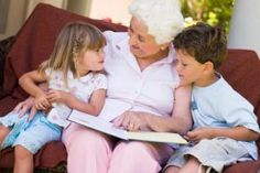 Photo about Grandmother reading to grandchildren on the softer. Image of grandchildren, relaxing, caucasian - 5466490 Great Grandma Gifts, Grandma And Grandpa, Grandma Crafts, Grandchildren, Grandkids, Grandparent Photo, Birthday Collage, Elderly Activities, Dementia Activities