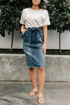New Arrivals – Page 2 – One Loved Babe Modest Church Outfits, Modest Summer Outfits, Summer Outfits For Teens, Cute Casual Outfits, Church Outfit For Teens, Summer Church Outfits, Modest Dresses For Teens, Denim Skirt Outfits, Denim Skirts