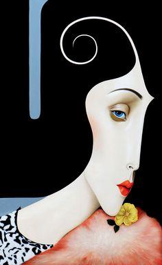 Artist Slava Fokk , Named: Simple sleek design. (This, I find very nice ! Portrait Art, Portraits, Tachisme, Surreal Art, Face Art, Figurative Art, Art Forms, Painting & Drawing, Woman Painting
