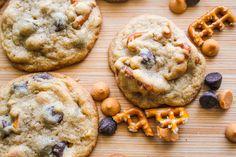 Pretzel Butterscotch Chocolate Chip Cookies by sallysbakingaddiction.com