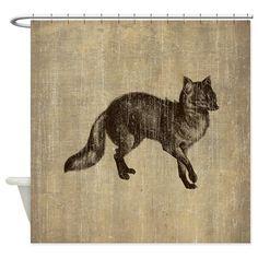 Vintage Fox Shower Curtain