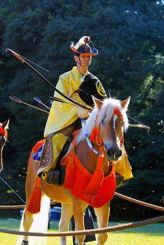 Japan yabusame: mounted horse archery