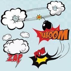 Cute Superhero clip art hero comic book Personal by CutesyArtshop, $2.99