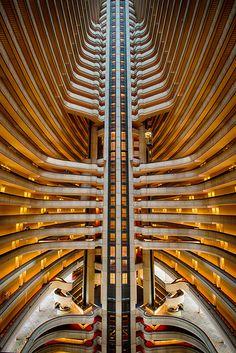 Milsteen Photo Keywords: Marriott Marquis Atlanta Georgia John Portman architect balconies lines abstract lobby elevators Milsteen Hotel Architecture, Unique Architecture, Chinese Architecture, Islamic Architecture, Futuristic Architecture, Commercial Architecture, Atrium Design, Lobby Design, Sacher Wien