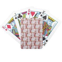 Tiled Bacon Weave Pattern Poker Deck