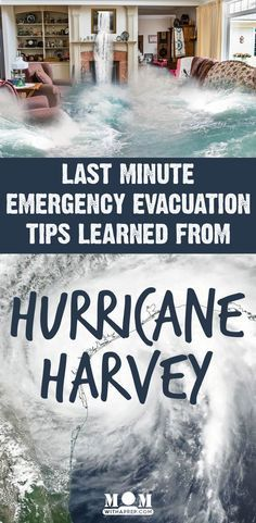 Keep your family safe with these last minute emergency evacuation tips learned during Hurricane Harvey that apply to any natural disaster and evacuation.Don't let a last minute evacuation derail you from your preparedness plans. Hurricane Preparedness Kit, Hurricane Evacuation, Emergency Preparedness Food, Emergency Planning, Emergency Preparation, Emergency Kits, Zombies Survival, Emergency Binder, Family Emergency