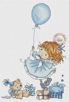 Birthday of princess Cross Stitch Boards, Cross Stitch For Kids, Cute Cross Stitch, Cross Stitch Kits, Cross Stitch Designs, Cross Stitch Patterns, Cross Stitching, Cross Stitch Embroidery, Embroidery Patterns