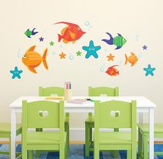 You might start to feel like you're living under the sea with this set of fun sea creatures. Perfect for bathrooms, bedrooms, or if you're really adventurous, your dining room!  Starting at $45.00.