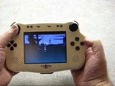 IntoPlay - Playstation 1 handheld portable - YouTube