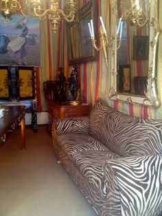zebra inspired couch...paris flea market