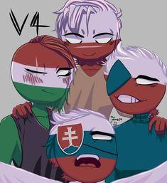 (Hungary on the left, C. Poland Hetalia, Hungary Hetalia, Country Men, History Memes, Disney And More, Disney Cartoons, Cool Art, Drawings, Balls