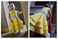 Sunny Little Miss Dress: soooo adorable.!! I love the ruffled bottom and the length makes it seem very fancy! Love it and the shoes look really sweet with the dress. There's a very detailed tutorial that makes it seem this dress would be easy to make; now, I'm just not sure how accurate that may be but I'm going to try. Lol @soyouthinkyourecraftyblogspot.com. [2[3].jpg]
