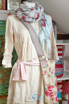 Rose scarf and Cath Kidston bag.