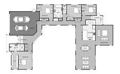 Tall Oaks | Signature Homes Best House Plans, Dream House Plans, House Floor Plans, Building Plans, Building A House, U Shaped House Plans, Modular Floor Plans, Courtyard House Plans, Architectural House Plans