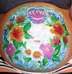 I like flowers she said.. I'll make you a garden! Flower bellypaint
