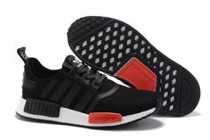 huge discount 925a4 2682a Adidas Women Men Originals NMD High Top Shoes Black Red Adidas Nmd Kids,  Cheap Adidas