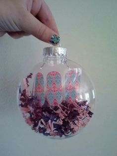 Jamberry Mani in an ornament!  So CUTE!!! Love fun gift ideas! http://jamswithandrea.jamberrynails.net/