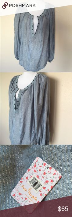 NWT Free People Against All Odds Grommet Blouse M Brand new with tags still on Free People Tops Blouses
