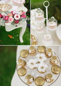 Gold decorative cupcakes