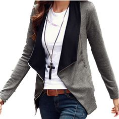 Cheap jacket jackson, Buy Quality cardigan silk directly from China jacket snake Suppliers:  Material: Cotton+PolyesterPackage include: 1 jacketColor: Black, Black&Grey, Grey&am