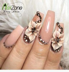 Expand fashion to your nails by using nail art designs. Used by fashionable stars, these kinds of nail designs can incorporate instantaneous elegance to your apparel. Cute Nail Art, 3d Nail Art, Cute Nails, Pretty Nails, Nail Nail, Red Nail, 3d Nail Designs, Nail Designs Spring, Acrylic Nail Designs