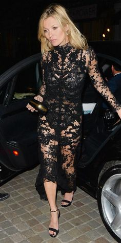 Look of the Day - March 13, 2015 - Kate Moss in Alexander McQueen from #InStyle