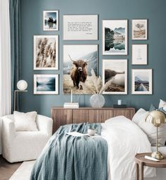 Gallery Wall Bedroom, Gallery Wall Frames, Bedroom Wall, Bedroom Decor, Ideas Hogar, Inspiration Wall, Bedroom Colors, My New Room, Cheap Home Decor