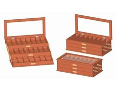 Build a meaningful keepsake gift with these free DIY jewelry box plans. There are lots of different styles and a great plan for every skill level. Woodworking Tool Kit, Woodworking For Kids, Woodworking Projects That Sell, Woodworking Supplies, Woodworking Crafts, Cnc Projects, Woodworking Workbench, Outdoor Projects, Jewelry Box Plans