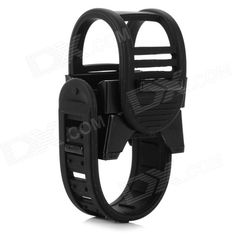 Adjustable Plastic Cycling Bike Flashlight Holder - Black Price: $3.40