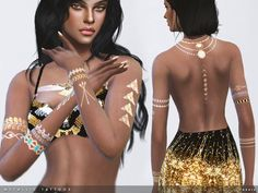 -2 designs  Found in TSR Category 'Sims 4 Female Tattoos'