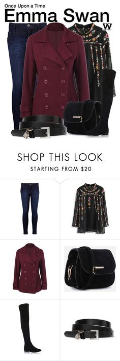 """Once Upon a Time"" by wearwhatyouwatch ❤ liked on Polyvore featuring Levi's, Chicwish, Stuart Weitzman, Alexander McQueen, television and wearwhatyouwatch"
