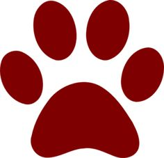 bobcat paw print clip art clipart best cricut projects rh pinterest com Cy-Fair Bobcat Paw Print bobcat paw print clip art free