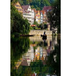 """Tubingen, Germany - Tübingen is a traditional university town in southwestern Germany that dates back to 1078 AD. """"Old town"""", located along the Neckar river, looks much like it would have in the 1600s. What a ridiculously charming place!"""
