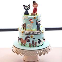Adorable cartoon birthday cake