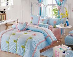 Find More Bedding Sets Information about Free shipping super soft Velvet three dimensional flowers light blue  winter bedding set,High Quality Bedding Sets from Amymoremore mall on Aliexpress.com