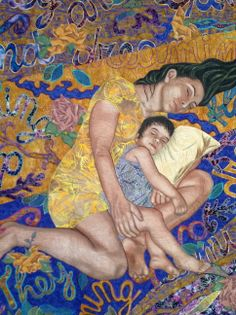 Dreaming by Sonia Bardella of Italy was of the Text on Textiles 2011 exhibit. This quilt was beautiful and Jake especially liked the way the words were rendered and carried off of the sides of the quilt, capturing the feel of the title and the moment depicted.