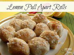 Lemon Pull Apart Rolls   crumbsandchaos.net   #lemon #rolls #brunch
