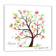 Fingerabdruck Baum - Hochzeit Weddingtree Leinwand