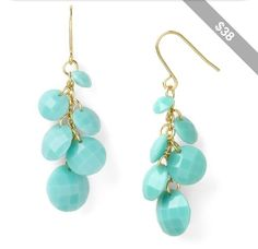 #blue #mint #bead #earings #jewlery