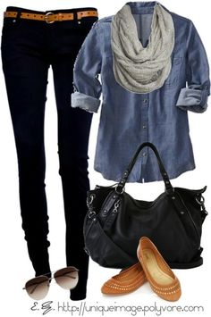 camel, weekend outfit, denim shirts, fall outfits, casual looks, black jeans, scarv, shoe, black pants