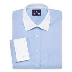 Stafford® Signature Contrast Collar French Cuff Dress Shirt  found at @JCPenney