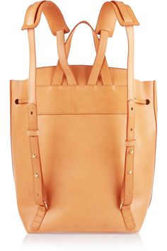 Tan leather (Cow) Drawstring top Designer color: Cammello/ Cream Comes with dust bag