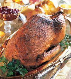 Mustard and Garlic Roast Goose: Recipe: bonappetit.com